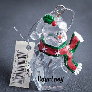 Courtney Christmas Ornament Personalized Name
